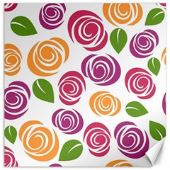Colorful Seamless Floral Flowers Pattern Wallpaper Background Canvas 12  X 12