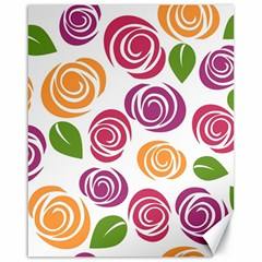 Colorful Seamless Floral Flowers Pattern Wallpaper Background Canvas 16  X 20