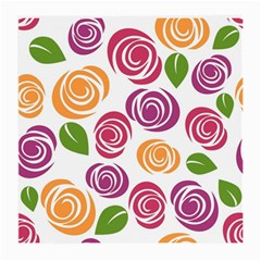Colorful Seamless Floral Flowers Pattern Wallpaper Background Medium Glasses Cloth