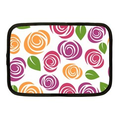 Colorful Seamless Floral Flowers Pattern Wallpaper Background Netbook Case (medium)