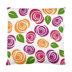 Colorful Seamless Floral Flowers Pattern Wallpaper Background Standard Cushion Case (two Sides)