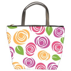 Colorful Seamless Floral Flowers Pattern Wallpaper Background Bucket Bags