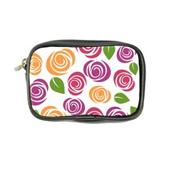 Colorful Seamless Floral Flowers Pattern Wallpaper Background Coin Purse