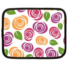 Colorful Seamless Floral Flowers Pattern Wallpaper Background Netbook Case (xl)