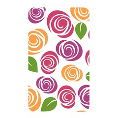 Colorful Seamless Floral Flowers Pattern Wallpaper Background Memory Card Reader