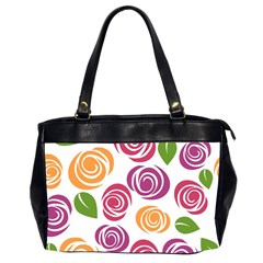 Colorful Seamless Floral Flowers Pattern Wallpaper Background Office Handbags (2 Sides)
