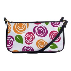 Colorful Seamless Floral Flowers Pattern Wallpaper Background Shoulder Clutch Bags