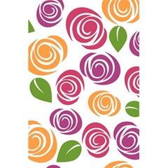 Colorful Seamless Floral Flowers Pattern Wallpaper Background 5.5  x 8.5  Notebooks