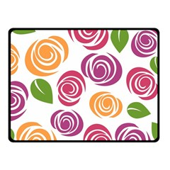 Colorful Seamless Floral Flowers Pattern Wallpaper Background Fleece Blanket (Small)