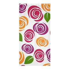 Colorful Seamless Floral Flowers Pattern Wallpaper Background Shower Curtain 36  X 72  (stall)