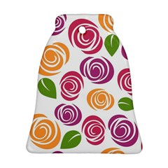 Colorful Seamless Floral Flowers Pattern Wallpaper Background Ornament (bell)