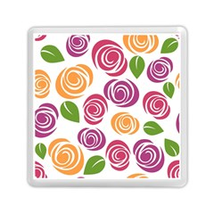 Colorful Seamless Floral Flowers Pattern Wallpaper Background Memory Card Reader (square)