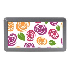Colorful Seamless Floral Flowers Pattern Wallpaper Background Memory Card Reader (mini)