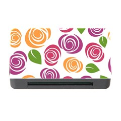 Colorful Seamless Floral Flowers Pattern Wallpaper Background Memory Card Reader with CF