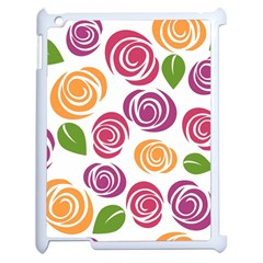 Colorful Seamless Floral Flowers Pattern Wallpaper Background Apple Ipad 2 Case (white)