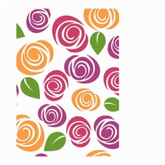 Colorful Seamless Floral Flowers Pattern Wallpaper Background Small Garden Flag (two Sides)
