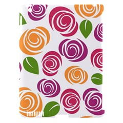 Colorful Seamless Floral Flowers Pattern Wallpaper Background Apple Ipad 3/4 Hardshell Case (compatible With Smart Cover)