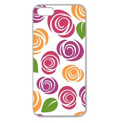 Colorful Seamless Floral Flowers Pattern Wallpaper Background Apple Seamless Iphone 5 Case (clear)