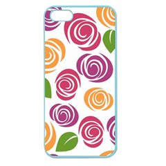 Colorful Seamless Floral Flowers Pattern Wallpaper Background Apple Seamless Iphone 5 Case (color)