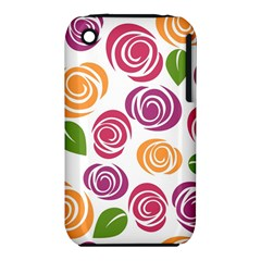 Colorful Seamless Floral Flowers Pattern Wallpaper Background Iphone 3s/3gs