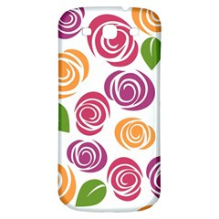 Colorful Seamless Floral Flowers Pattern Wallpaper Background Samsung Galaxy S3 S Iii Classic Hardshell Back Case