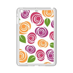 Colorful Seamless Floral Flowers Pattern Wallpaper Background iPad Mini 2 Enamel Coated Cases
