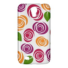 Colorful Seamless Floral Flowers Pattern Wallpaper Background Samsung Galaxy Mega 6.3  I9200 Hardshell Case