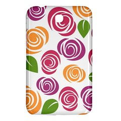 Colorful Seamless Floral Flowers Pattern Wallpaper Background Samsung Galaxy Tab 3 (7 ) P3200 Hardshell Case