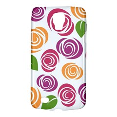 Colorful Seamless Floral Flowers Pattern Wallpaper Background Galaxy S4 Active