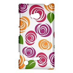Colorful Seamless Floral Flowers Pattern Wallpaper Background Nokia Lumia 720