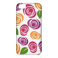 Colorful Seamless Floral Flowers Pattern Wallpaper Background Apple Iphone 5c Hardshell Case