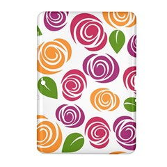 Colorful Seamless Floral Flowers Pattern Wallpaper Background Samsung Galaxy Tab 2 (10 1 ) P5100 Hardshell Case