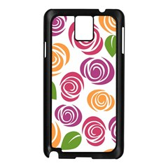Colorful Seamless Floral Flowers Pattern Wallpaper Background Samsung Galaxy Note 3 N9005 Case (black)