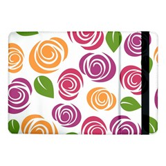 Colorful Seamless Floral Flowers Pattern Wallpaper Background Samsung Galaxy Tab Pro 10 1  Flip Case
