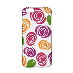 Colorful Seamless Floral Flowers Pattern Wallpaper Background Apple iPhone 6/6S Hardshell Case