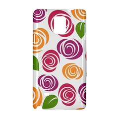 Colorful Seamless Floral Flowers Pattern Wallpaper Background Samsung Galaxy Note 4 Hardshell Case