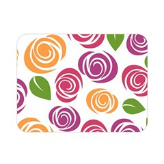 Colorful Seamless Floral Flowers Pattern Wallpaper Background Double Sided Flano Blanket (mini)