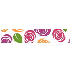 Colorful Seamless Floral Flowers Pattern Wallpaper Background Flano Scarf (Small)