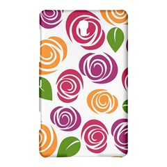 Colorful Seamless Floral Flowers Pattern Wallpaper Background Samsung Galaxy Tab S (8 4 ) Hardshell Case