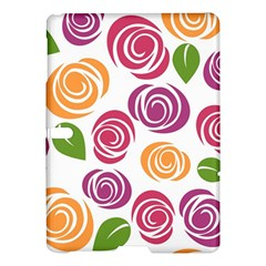 Colorful Seamless Floral Flowers Pattern Wallpaper Background Samsung Galaxy Tab S (10.5 ) Hardshell Case