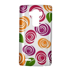 Colorful Seamless Floral Flowers Pattern Wallpaper Background Lg G4 Hardshell Case