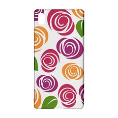 Colorful Seamless Floral Flowers Pattern Wallpaper Background Sony Xperia Z3+