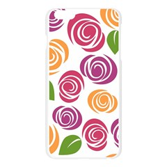 Colorful Seamless Floral Flowers Pattern Wallpaper Background Apple Seamless iPhone 6 Plus/6S Plus Case (Transparent)