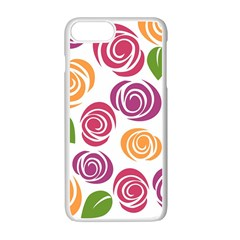 Colorful Seamless Floral Flowers Pattern Wallpaper Background Apple Iphone 7 Plus White Seamless Case