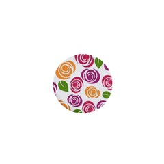 Colorful Seamless Floral Flowers Pattern Wallpaper Background 1  Mini Buttons