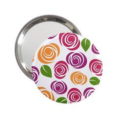 Colorful Seamless Floral Flowers Pattern Wallpaper Background 2.25  Handbag Mirrors