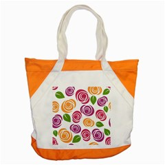Colorful Seamless Floral Flowers Pattern Wallpaper Background Accent Tote Bag