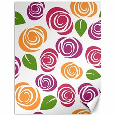 Colorful Seamless Floral Flowers Pattern Wallpaper Background Canvas 18  X 24