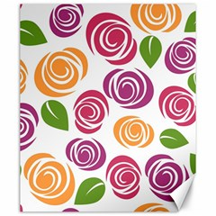 Colorful Seamless Floral Flowers Pattern Wallpaper Background Canvas 20  x 24