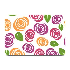 Colorful Seamless Floral Flowers Pattern Wallpaper Background Plate Mats